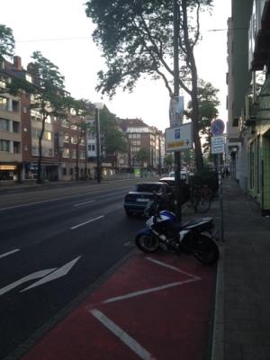 デュッセルドルフの町並みの様子