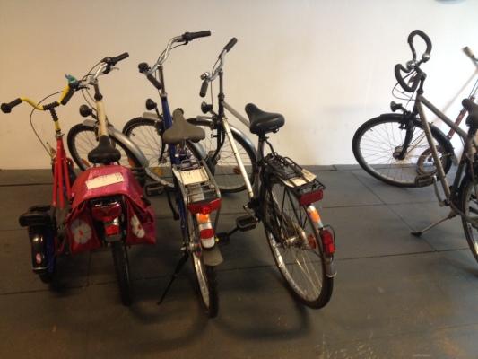 中古自転車屋の自転車の様子