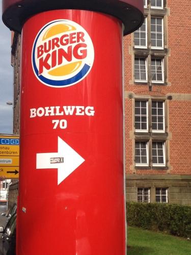 BurgerKingの看板