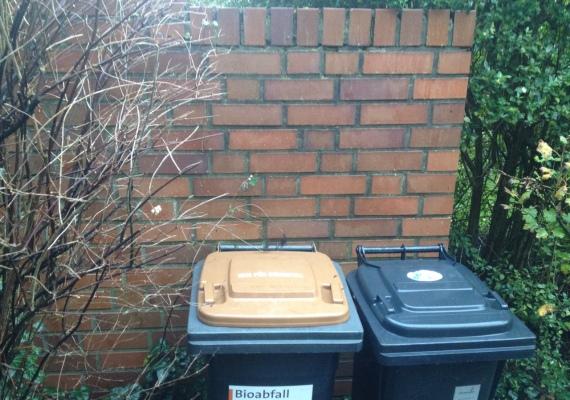 左の『Bio』と書かれたものが生ごみ専用のゴミ箱