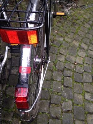 自転車の後部ランプ