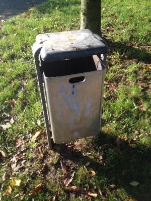 ドイツの公園にあるゴミ箱