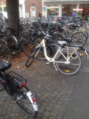 ドイツの駐輪場の様子