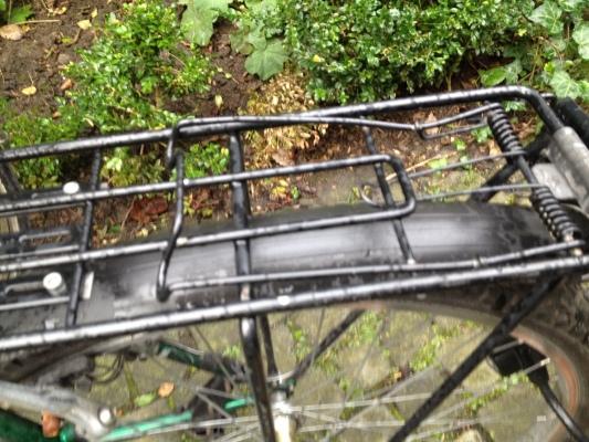 自転車の泥除け
