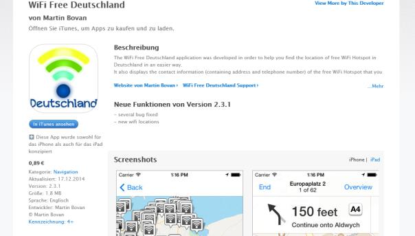 Wifiの地図アプリ
