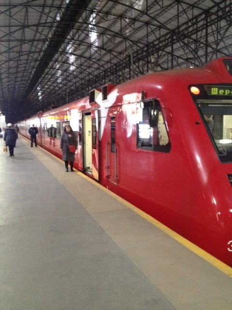 空港から市内への列車