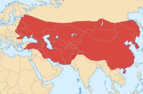 モンゴル帝国の1279年の版図
