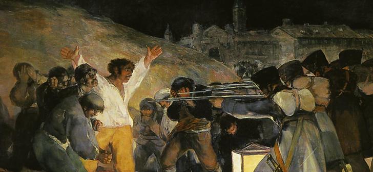 プリンシペ・ピオの丘での銃殺